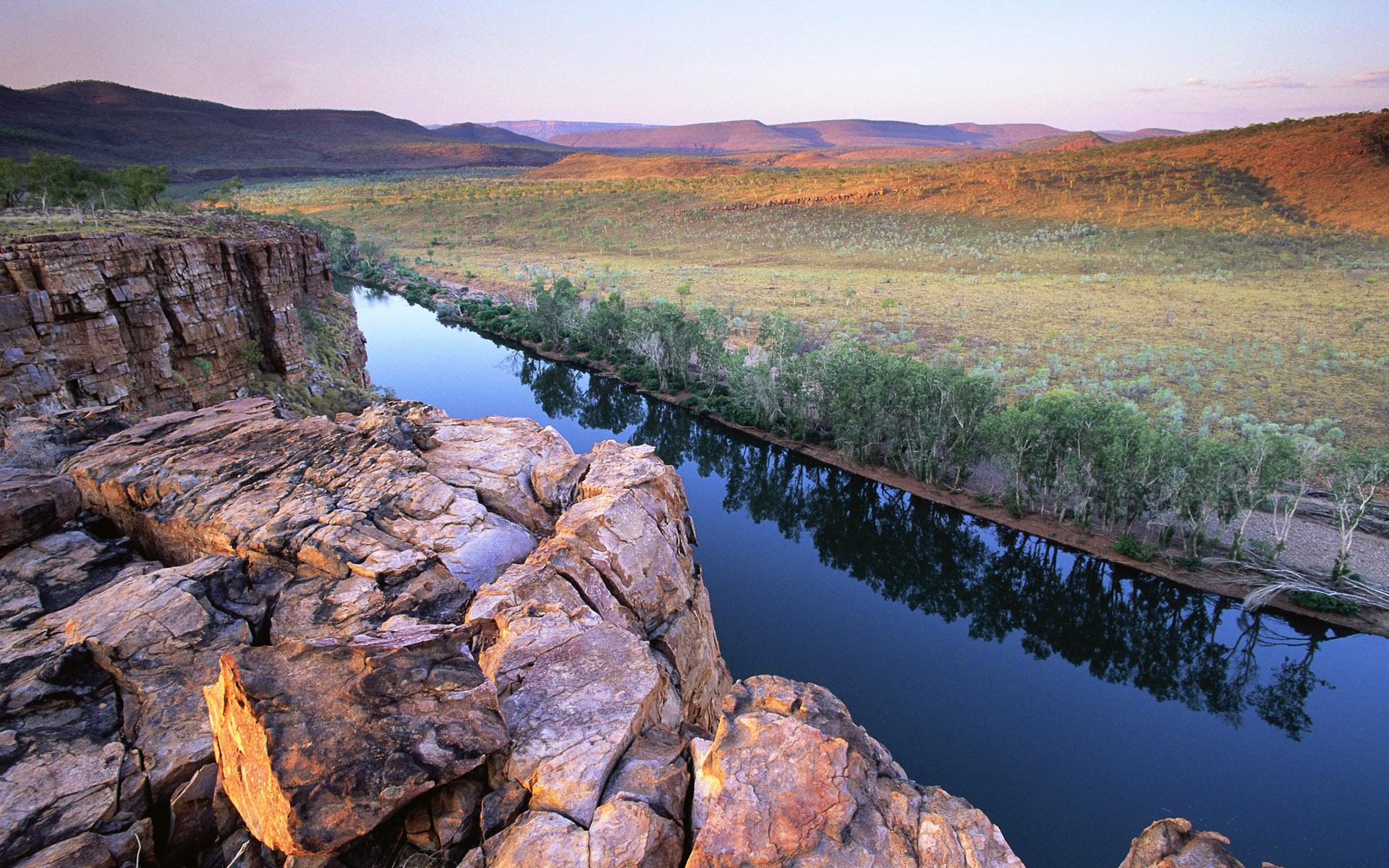 Обои windows 7 pentecost river on kimberley plateau
